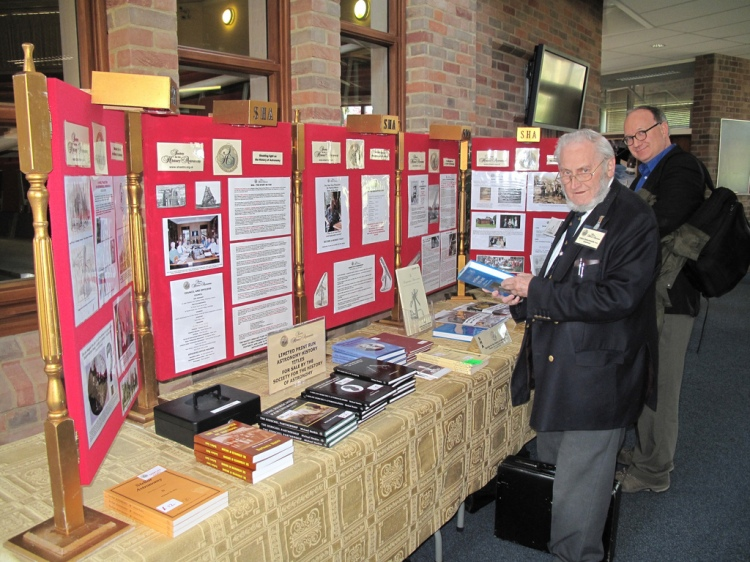 SHA Chairman (now Vice Chairman) Gilbert Satterthwaite examines the books and SHA publications on sale on the main SHA display stand
