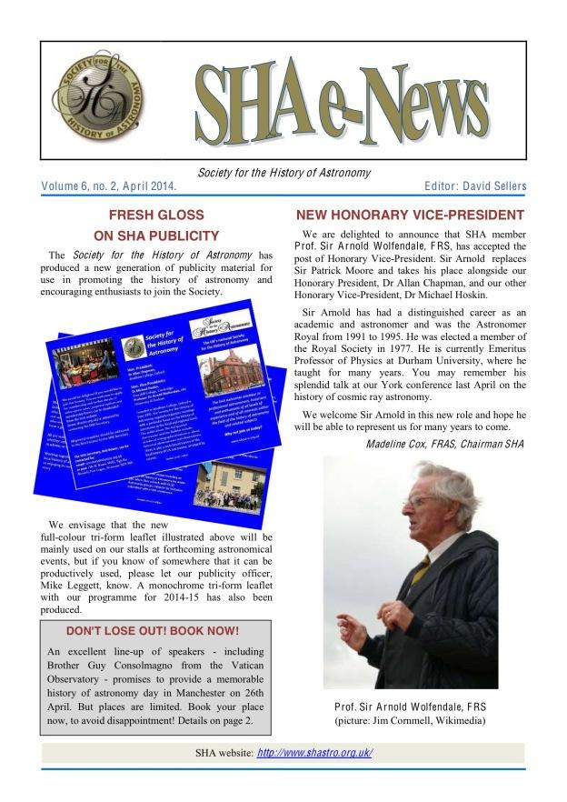SHA eNews April 2014