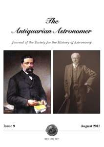 Antiquarian Astronomer 9 cover